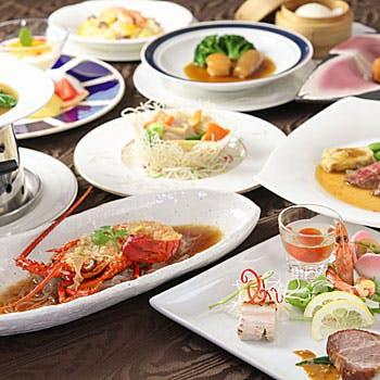 【人気プラン最安値】前菜四種盛り合わせ・ふかひれスープ・北京ダック・鯛の蒸し物など全7品をご堪能