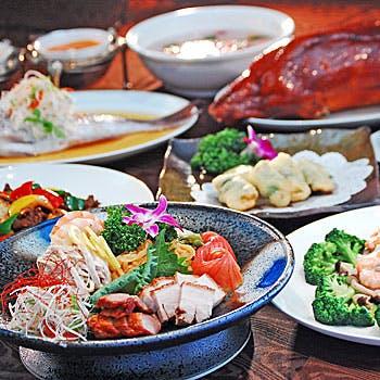 【飲み放題付】前菜4種盛り・フカヒレスープ・北京ダック・炒め物など全8品をご堪能
