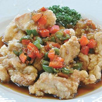 【1ドリンク付】前菜盛り合わせ 、フカヒレスープ、揚げ点心2種、黒酢酢豚 、炒め物など全7品ランチコース