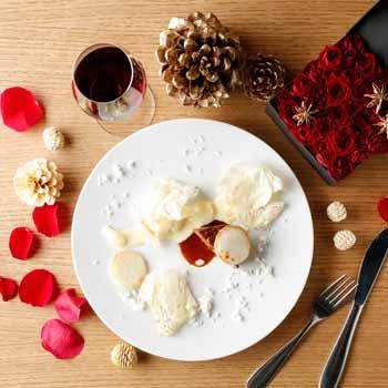 【Xmas2017】個室確約 帆立や牛フィレ肉など豪華クリスマスコース+乾杯酒付き 12,000円