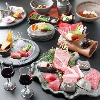 【個室確約】尾崎牛料理をリーズナブルに楽しめる「柊〜ひいらぎ〜コース」6,480円