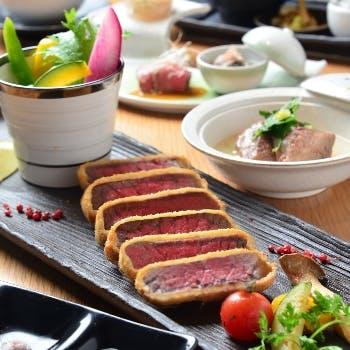 【一休限定】選べる1ドリンク付!宮崎牛のカツレツ120gをメインに愉しむ料理長こだわりのディナーコース!