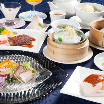 【贅を尽くした感謝コース】鯛の刺身、フカヒレスープ、北京ダック、海鮮炒め、牛ステーキなど全9品!