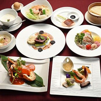 【四季春コース】鮮魚のお造り+フカヒレスープ+北京ダック+魚介料理+牛肉のステーキなど豪華全8品!
