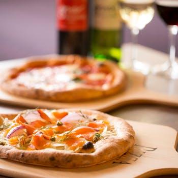 【平日限定】チョイスパスタランチ!お勧めピッツァ2種とサラダのバイキングにドリンク付でボリューム満点
