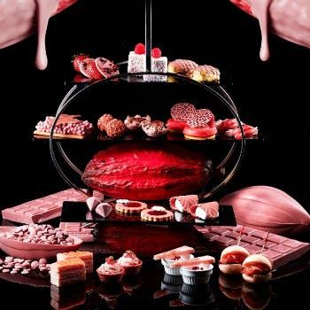 """【チョコレートアフタヌーンティー】奇蹟のルビーチョコレート〜最高級紅茶 """"ロンネ…"""
