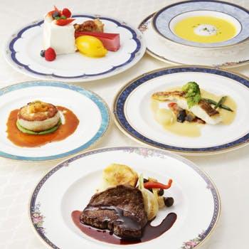【フリードリンク付プラン】前菜+アミューズ+魚料理+肉料理+デザートの全5品