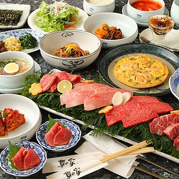【前沢牛焼肉コース】特選黒毛和牛や前沢牛の6種盛、〆がスンドゥブor冷麺で選べる贅沢な全8品!