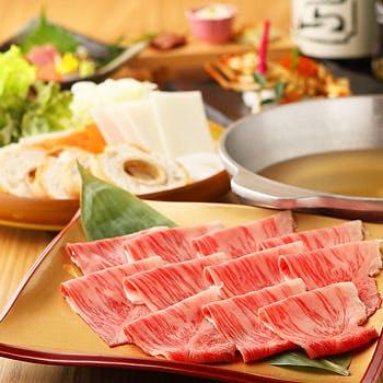 通常12,093円→10,692円 選べるドリンク付!選べる松阪牛の鍋料理、虹鱒の佐渡藻塩焼など全7品
