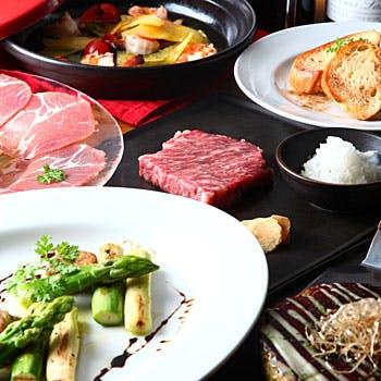 【一休限定】神戸牛や名物料理を堪能出来る 特別な全9品コース!お一人様6,400円