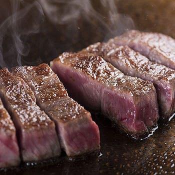 【地上200Mの高層階レストラン】A5松阪牛120gを贅沢にステーキで堪能!お造り、デザート含む全6品コース