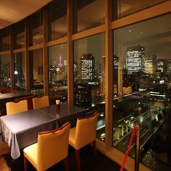 【乾杯スパークリング&3時間飲み放題付】東京湾の夜景を一望できる空間でシェアスタイル全6皿を!