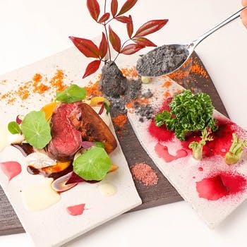 【個室選択可】美味しさだけに留まらない見た目にも美しいモダンガストロノミー料理!厳選肉料理の全6品