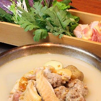 【乾杯ドリンク付き】二子玉川駅徒歩3分!絶品の比内地鶏の煮込み健康鍋(赤or白)に〆はおじやor麺!