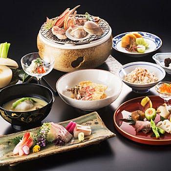 【平安】10月はボタン海老の造りや土瓶蒸し、甘鯛菊菜蒸し、松茸釜飯などつる家の魅力満載の京会席全9品