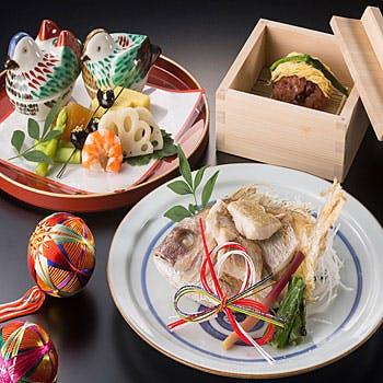 【個室確約】〜慶雲〜 顔合わせや結納に!グラスシャンパン、桜茶、記念写真特典付!小鯛や赤飯など全10品