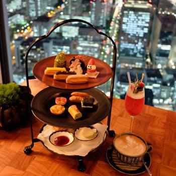 【窓席確約×クリスマス限定】キュートなアイテムを詰め込んだアフタヌーンティーと共に輝く東京の景色を!