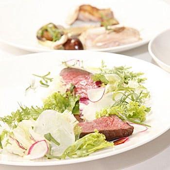 【料理のみ】フルコースで!前菜、パスタ、メイン、デザート、カフェ全4品 土曜限定で乾杯シャンパン付