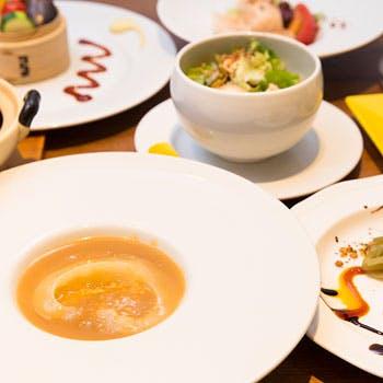 【乾杯スパークリング&2時間飲み放題付】フカヒレの姿煮や特製のエビマヨ和え、四川風麻婆豆腐など全7品