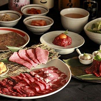 【飲み放題付】西麻布の老舗焼肉店で上質な焼肉を堪能!黒毛和牛ユッケや和牛カルビ、前菜3種盛り等全12品