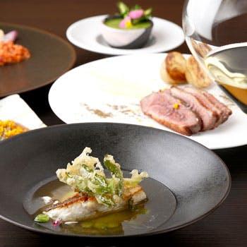 【Wメイン】前菜、数種よりそれぞれ選べるお魚&お肉、デザートなど本日の旬食材を使用した全6品を堪能