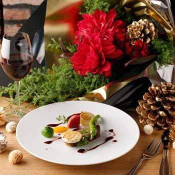 【Xmas2017】ホテル18階夜景確約!甘鯛や黒毛和牛オリーブ牛など豪華クリスマスコース全8品12,000円
