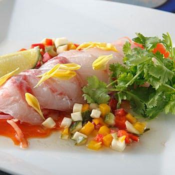 【お肉とお魚のWメイン】オーナーが拘り選定した食材を使用!前菜鮮魚のカルパッチョもついて全7品6,800円