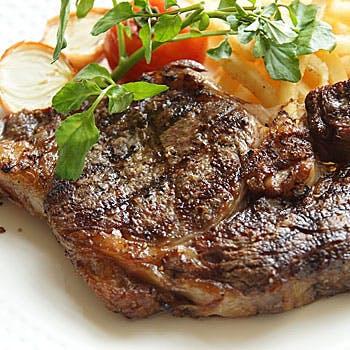 【1ドリンク付 】牛フィレorリブロース 肉を選べる肉魚Wメイン 肉料理専門店のスペシャルディナー 全5品