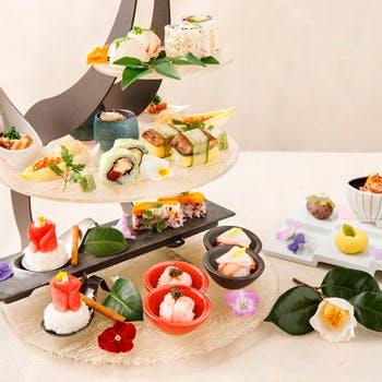 【リッチカジュアル華凜】前菜、お寿司、和菓子をアフタヌーンティースタイル120分ゆったりと