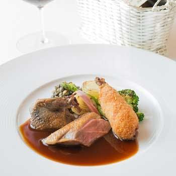 【お料理に合わせた計ワイン6杯】フォアグラ・キャビア・トリュフ高級食材を使ったフルコースにペアリング