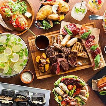 【女子会3,980円】フリードリンク3時間&お肉食べ比べやデザートなどの料理7品