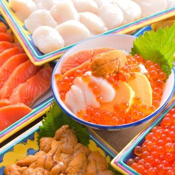 【ソフトドリンク飲み放題】イクラやウニなどたっぷり海鮮丼&カニも食べ放題!北海道フェア2017
