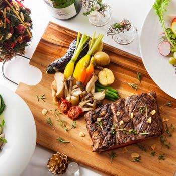 【特別価格】特製3ヵ月の熟成牛肉やお魚のWメイン&前菜2品やデザートなど豪華全6品をお得に堪能!