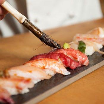 【究極コース】特選おまかせ寿司6貫、焼物、揚物、刺身、あら汁、デザートなど贅沢全7品【お土産付】