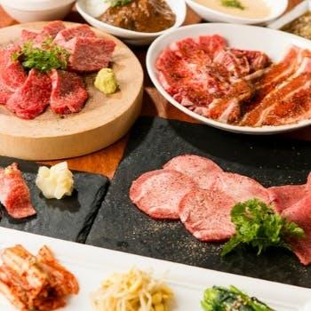 【赤坂KINTANパーティーコース】早めの忘年会!2時間飲み放題付きの牛フルコース全10品
