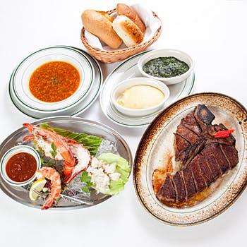 【看板メニューのTボーンステーキ!】選べる1ドリンク付NYで人気の有名店の味を福岡で!