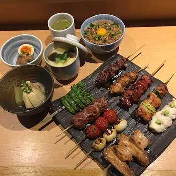 【水郷赤鶏使用】季節の一品・茶碗蒸し・鶏そぼろ丼を含む焼鳥10本コース