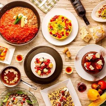 7.8月【平日限定】月替わりの自慢の料理、デザートブッフェも!ランチブッフェ約20種以上