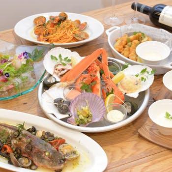 【乾杯スパークリング付】選べる温菜、パスタ、メイン!uniの魅力がたっぷり詰まった全6品!
