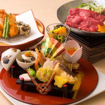 【還暦プラン】乾杯スパークリング&お祝いケーキ付!造り3種盛り、焼物、焚合、天ぷら、食事など全8品