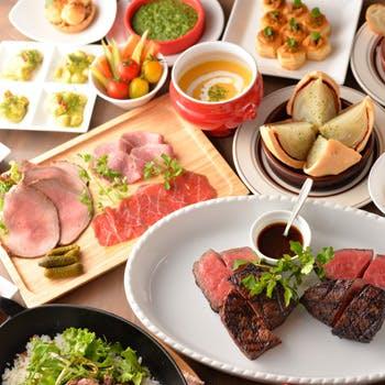 【1ドリンク付】牛すね肉のポワレ、厳選グリルステーキ、熟成和牛寿司など熟成肉を堪能する豪華全9品