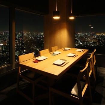 【夜景確約/えびす坂コース】職人が精魂込めて焼き上げる至極の一本 肉串4本や野菜串2本、デザート全8品