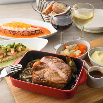 【シェアディナーセット】前菜5種盛や、4種から選べるエクレ自慢のライス料理、6種類から選べるメイン等