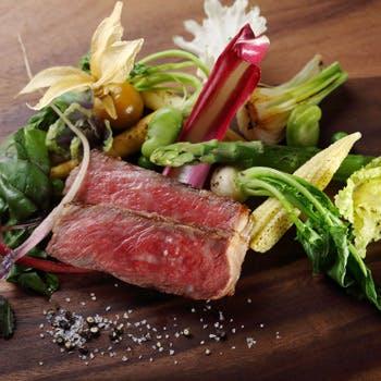 アミューズ、前菜2品、メイン2品(お肉・お魚)旬を満喫頂くテルラ=大地のフルコース全6品