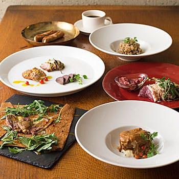 【当店おすすめディナー】河内鴨のたたき・ガレット・メイン料理など「河内鴨」を存分に味わえる全6品