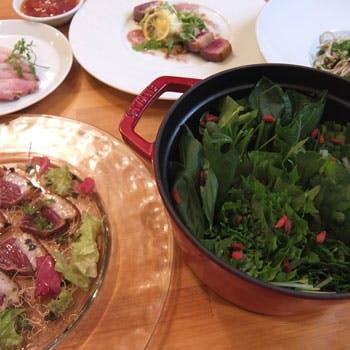 【NEW】七つの野菜と河内鴨、お蕎麦のコース