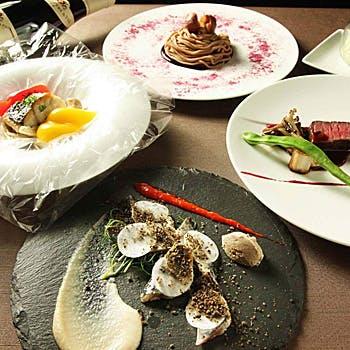 【女性・カップルにおすすめ】ドリンク2杯付!前菜、お魚&お肉、デザートなどシェフ渾身の全6品フルコース