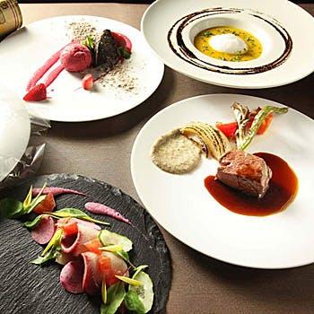 【一休限定】選べる乾杯酒付!前菜、お魚&お肉、デザートなど全6品!BOQUのおまかせフルコースランチ