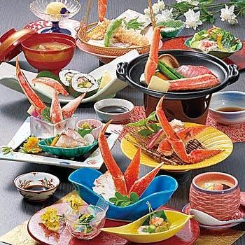 【花水木(はなみずき)】茹でがに・ずわい陶板ステーキ・ずわい焼など 全10品