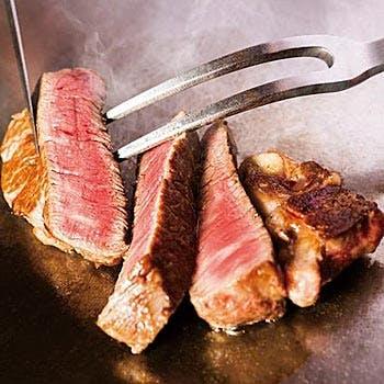 【茜・牛肉とオマール海老の鉄板焼き】オマール海老や選べるお肉と魚介の豪華な鉄板焼きコース
